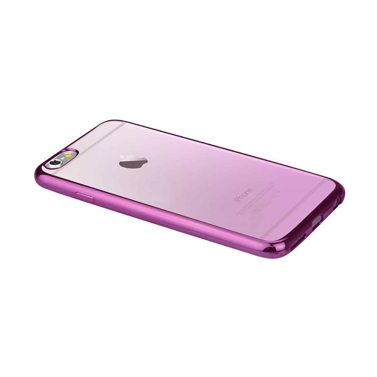 IPHONE 6 PLUS FRAME GRADIENT CLEAR GLITTER CASE IN PURPLE