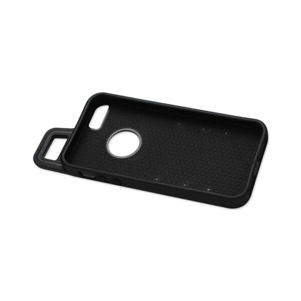 IPHONE SE/ 5S/ 5 DROPPROOF WORKOUT HYBRID CASE WITH HOOK IN BLACK