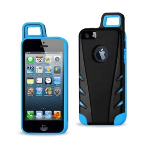 IPHONE 5/5S/SE DROPPROOF WORKOUT HYBRID CASE WITH HOOK IN BLACK NAVY