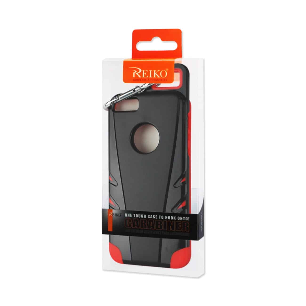 IPHONE 5/5S/SE DROPPROOF WORKOUT HYBRID CASE WITH HOOK IN BLACK RED