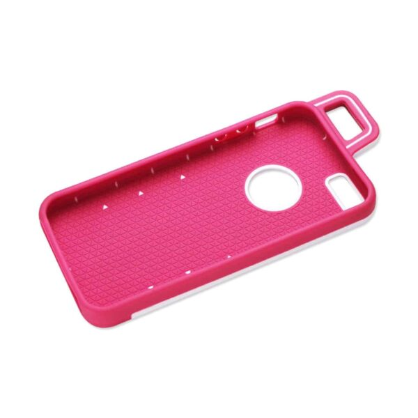 IPHONE 5/5S/SE DROPPROOF WORKOUT HYBRID CASE WITH HOOK IN WHITE PINK