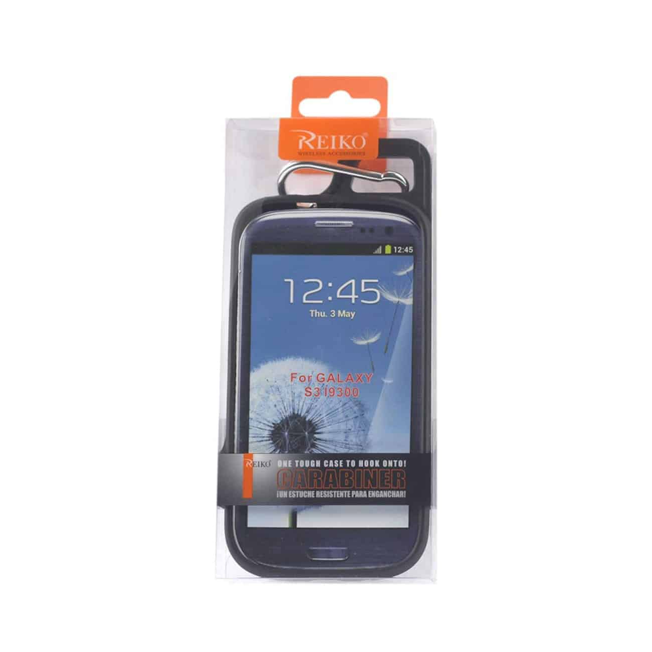 SAMSUNG GALAXY S3 DROPPROOF WORKOUT HYBRID CASE WITH HOOK IN BLACK