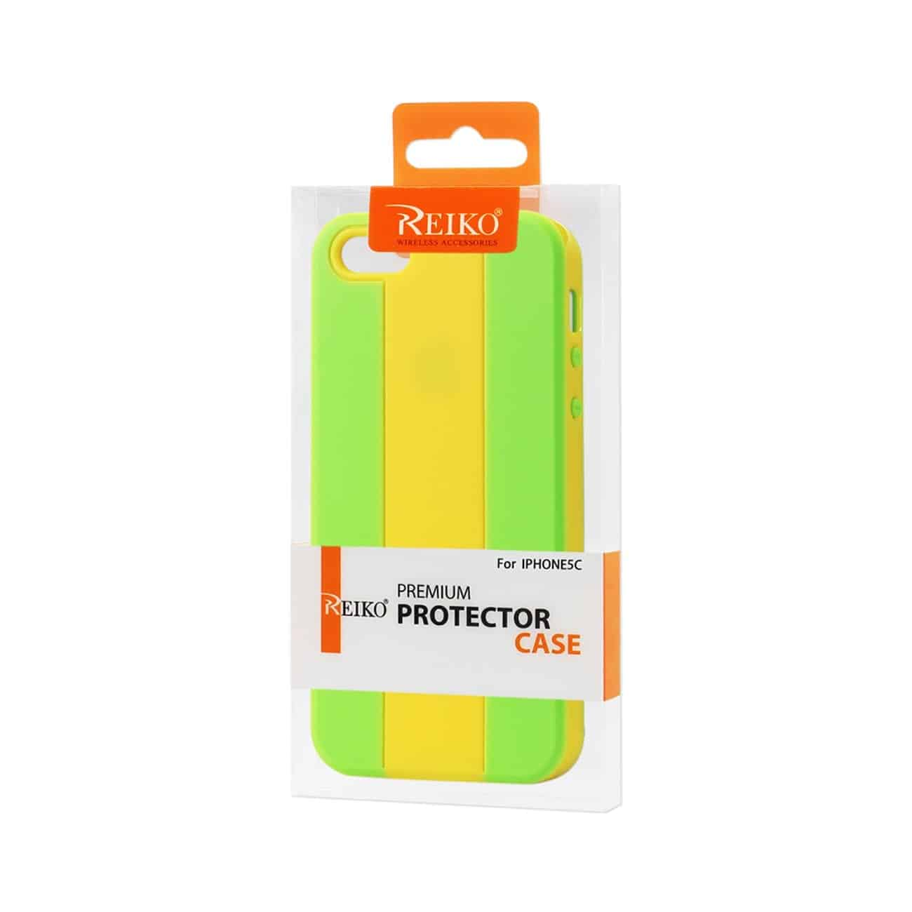 IPHONE 5C STRIPED CASE IN YELLOW GREY