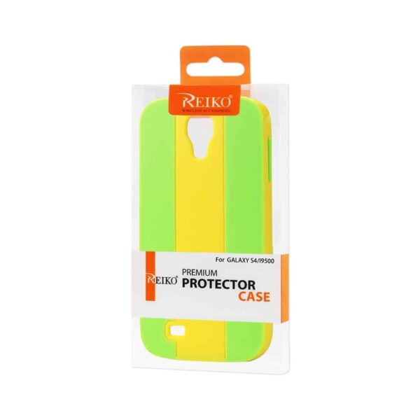 SAMSUNG GALAXY S4 STRIPED CASE IN YELLOW GREEN