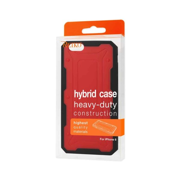 IPHONE 6 DUAL COLOR TRANSFORMER CASE IN RED BLACK