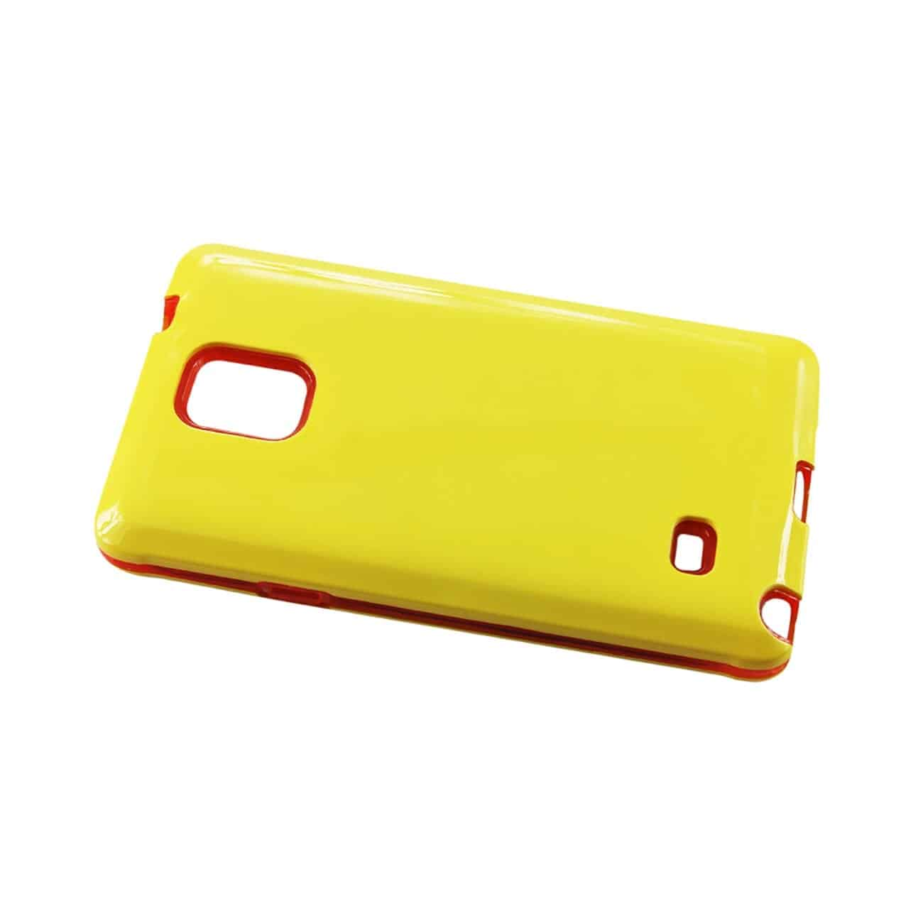 SAMSUNG GALAXY NOTE 4 SLIM ARMOR CANDY SHIELD CASE IN YELLOW