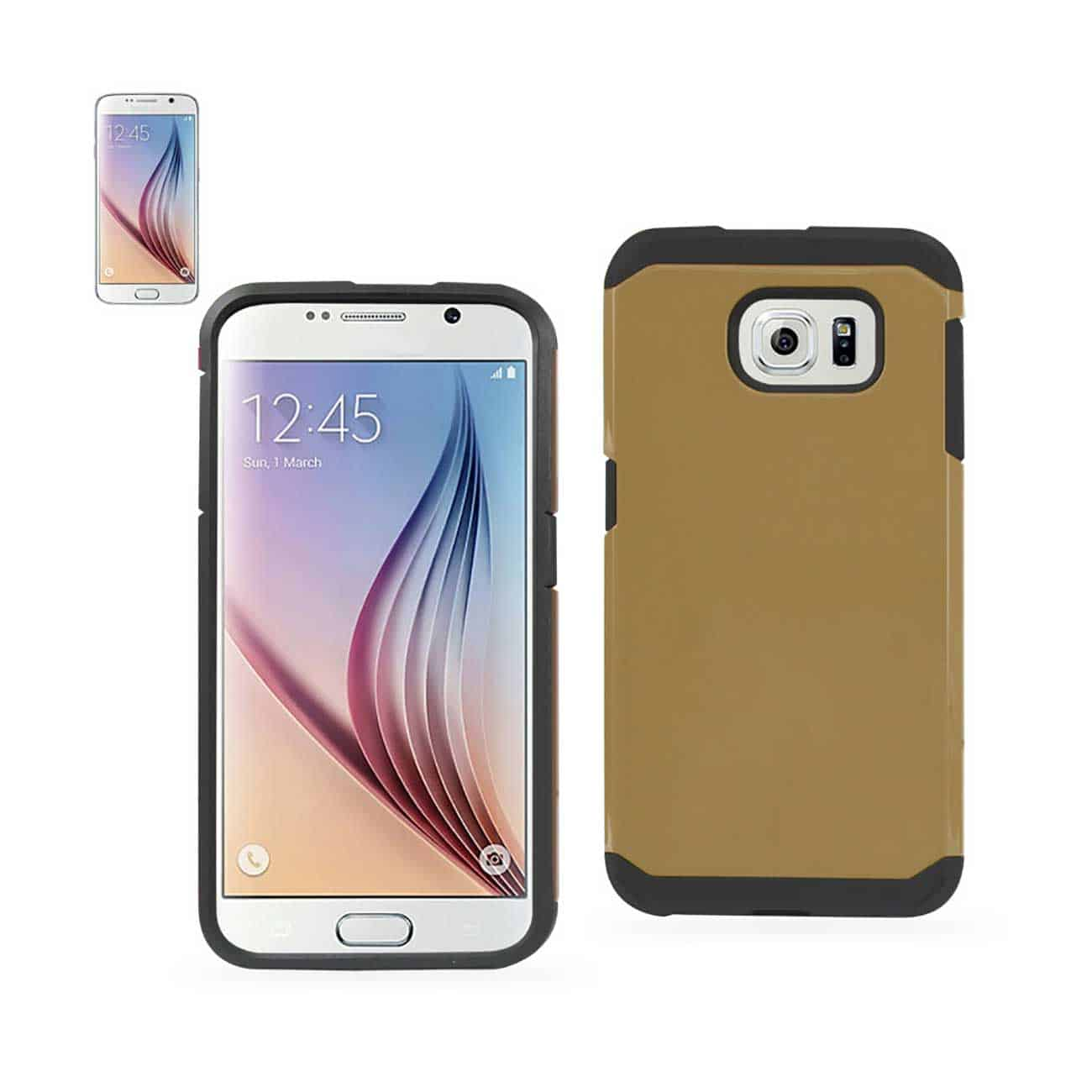 SAMSUNG GALAXY S6 SLIM ARMOR HYBRID TOUGH CASE IN GOLD