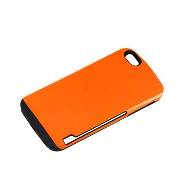IPHONE 6 PLUS CANDY SHIELD CASE WITH CARD HOLDER IN ORANGE