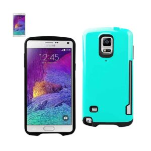 SAMSUNG GALAXY NOTE 4 CANDY SHIELD CASE WITH CARD HOLDER IN BLUE
