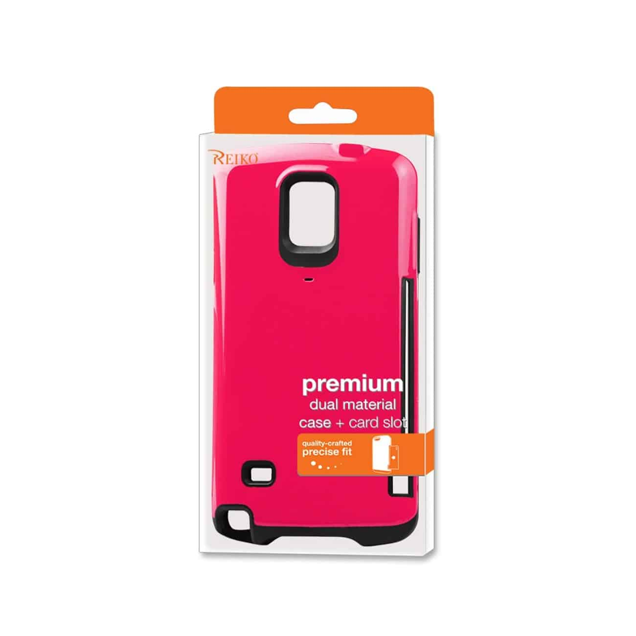 SAMSUNG GALAXY NOTE 4 CANDY SHIELD CASE WITH CARD HOLDER IN HOT PINK