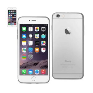 IPHONE 6 PLUS/ 6S PLUS CLEAR BACK FRAME BUMPER CASE IN GRAY