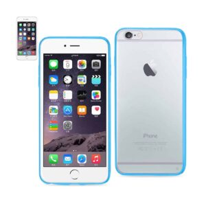 IPHONE 6 PLUS/ 6S PLUS CLEAR BACK FRAME BUMPER CASE IN NAVY