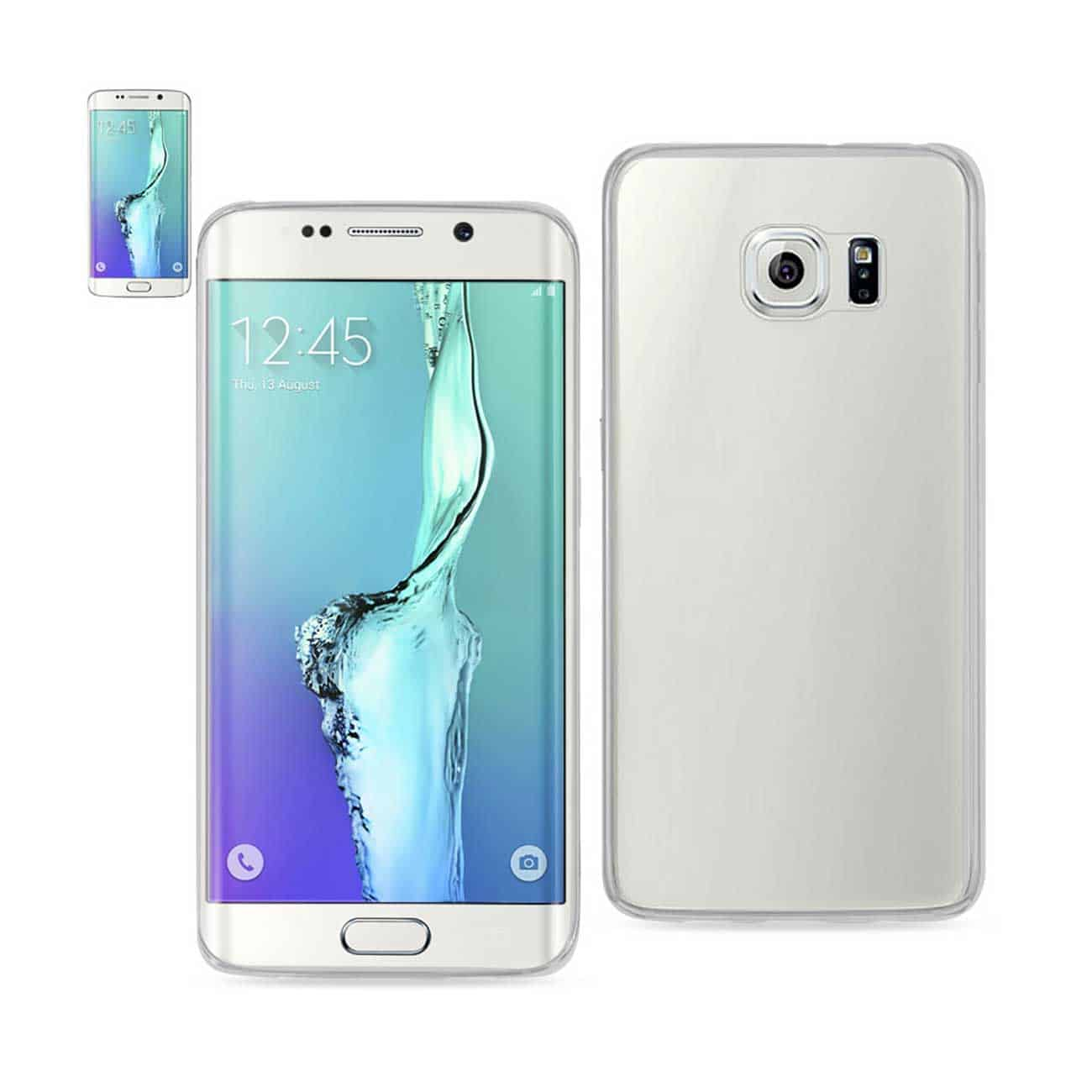 SAMSUNG GALAXY S6 EDGE PLUS CLEAR BACK FRAME BUMPER CASE IN CLEAR