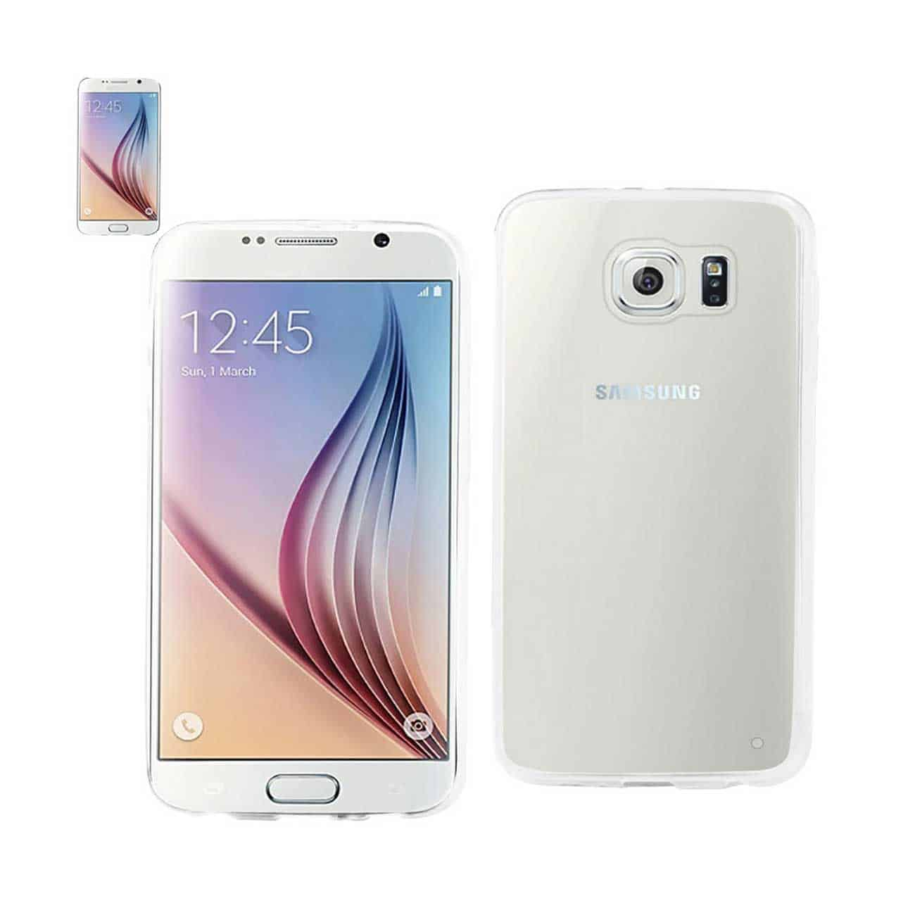 SAMSUNG GALAXY S6 CLEAR BACK FRAME BUMPER CASE IN CLEAR