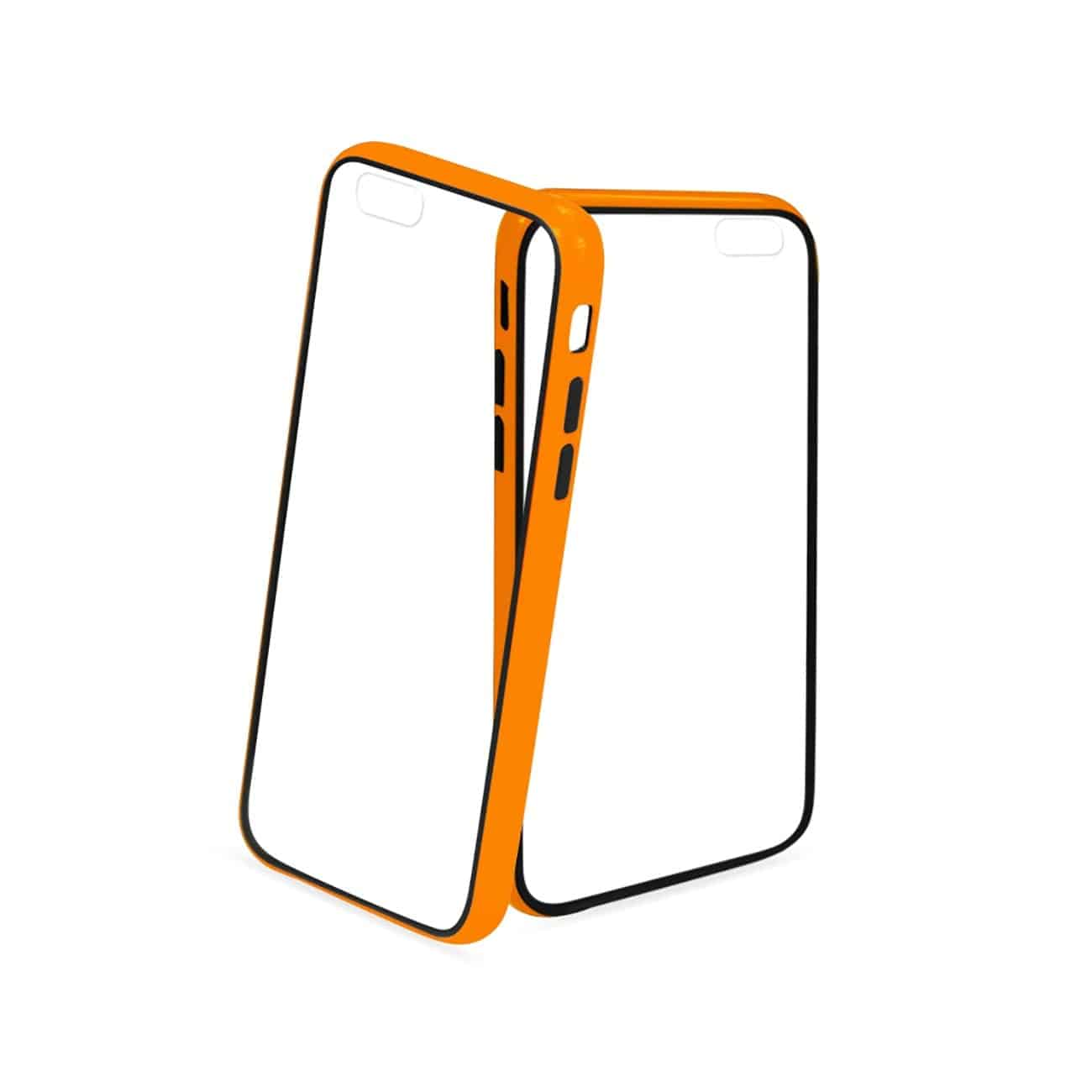 IPHONE 6 BUMPER CASE WITH TEMPERED GLASS SCREEN PROTECTOR IN ORANGE