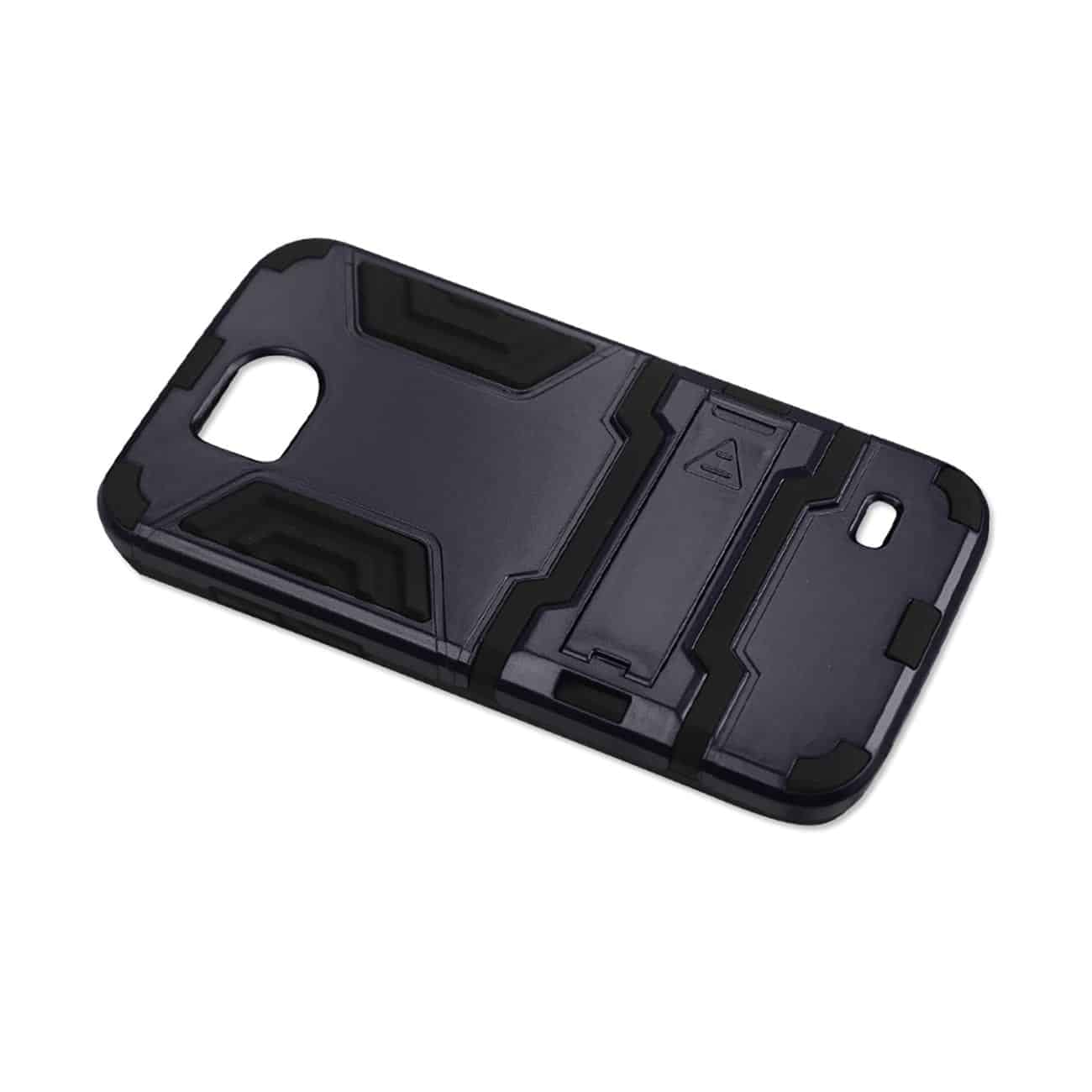 ZTE OVERTURE 2 HYBRID METALLIC CASE WITH KICKSTAND IN BLACK NAVY