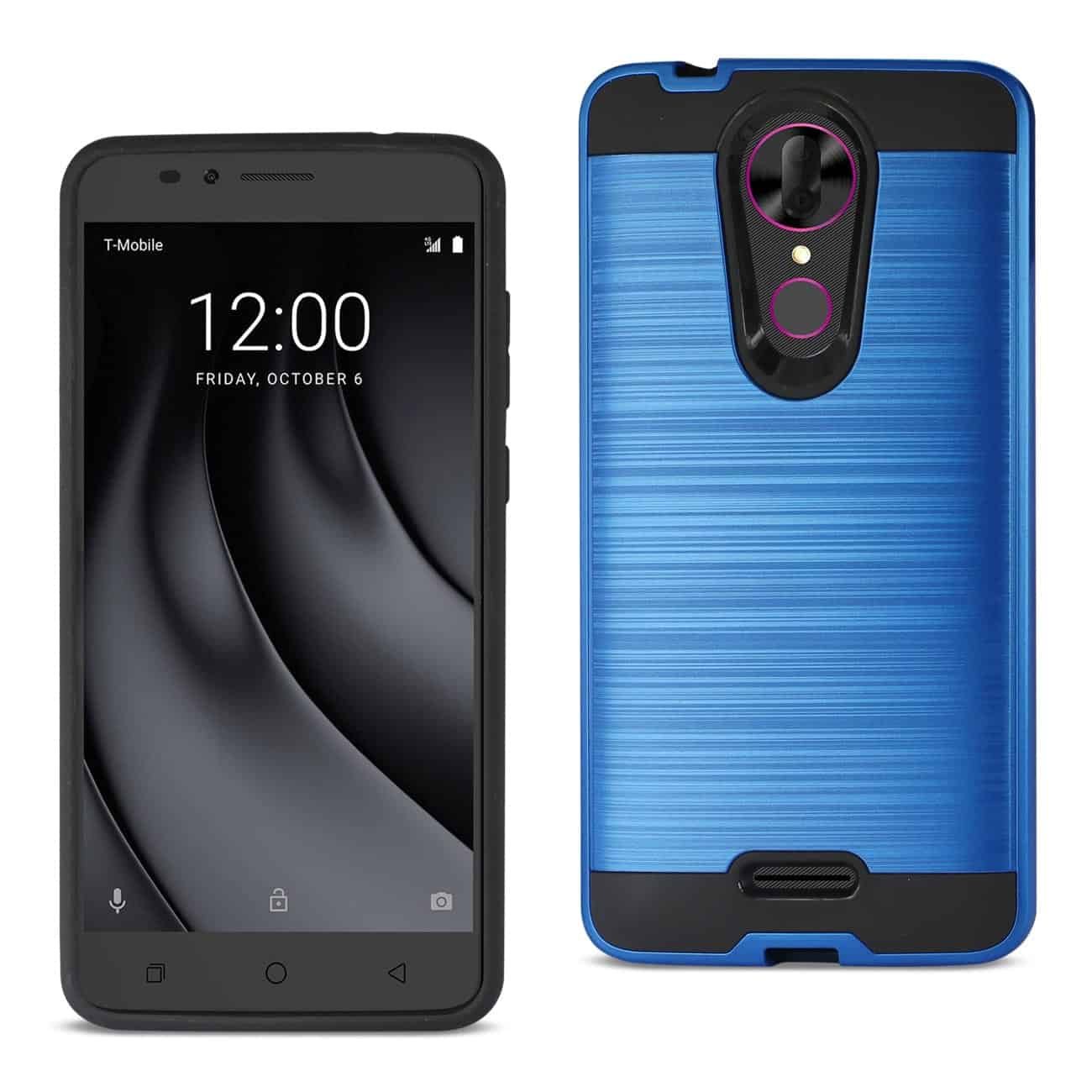 Coolpad REVVL Plus Hybrid Metal Brushed Texture Case In Navy