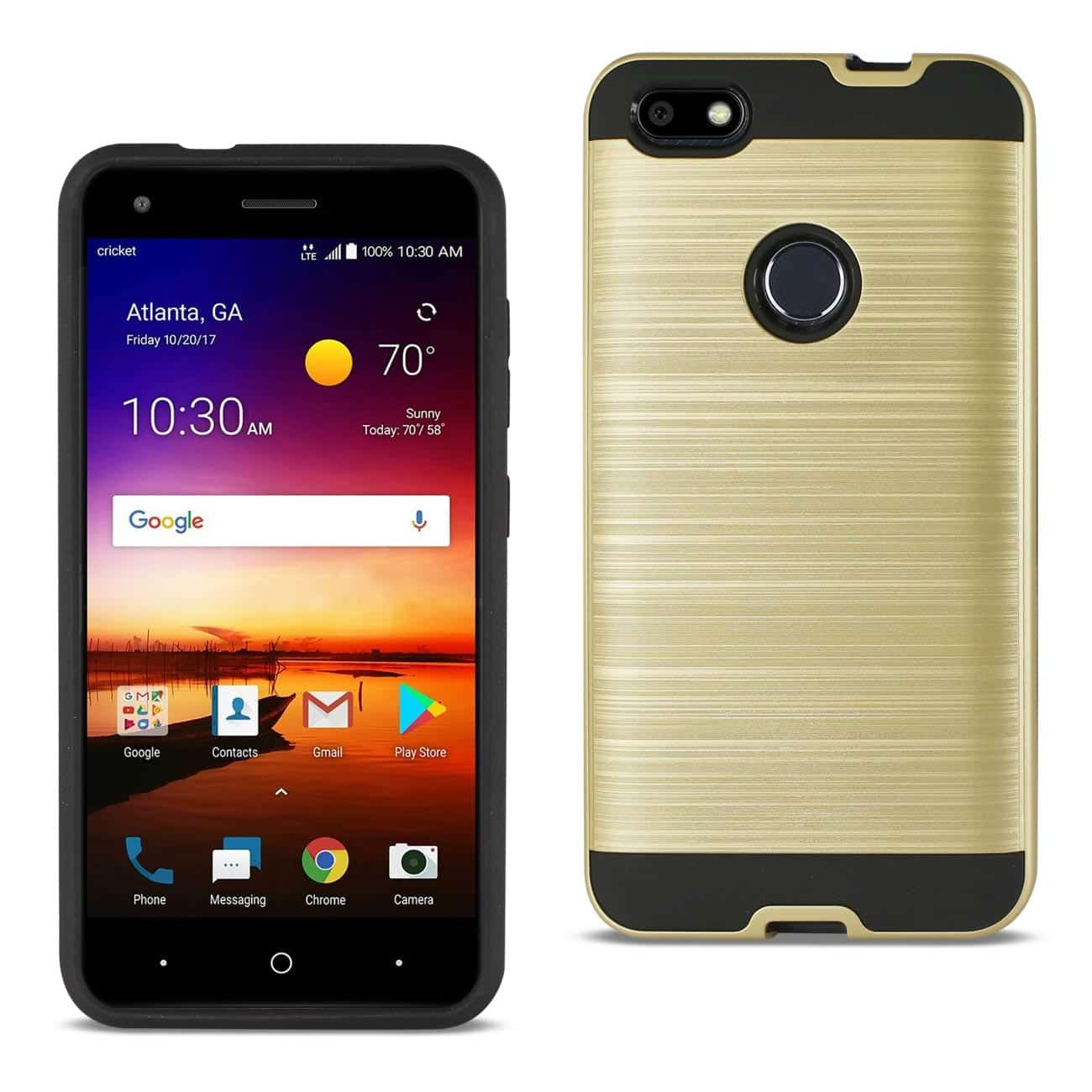 ZTE Blade X / Z965 Hybrid Metal Brushed Texture Case In Gold