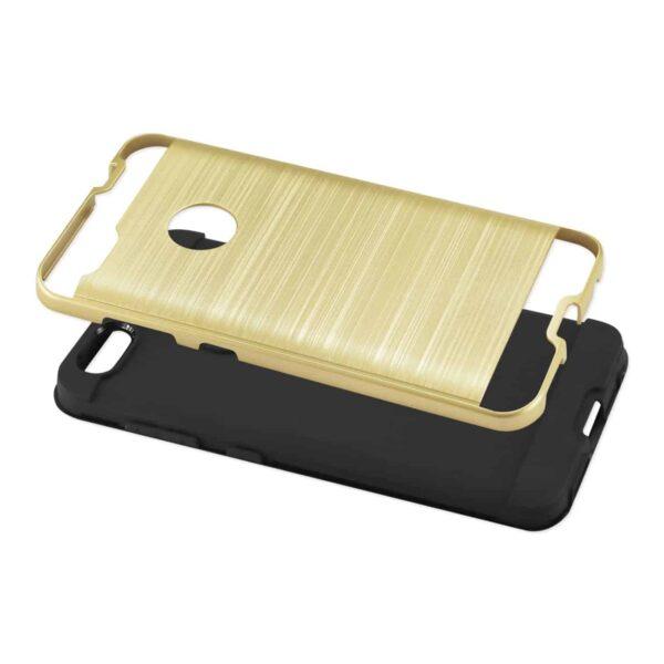 ZTE Blade X / Z965 Hybrid Metal Brushed Texture Case In Gold