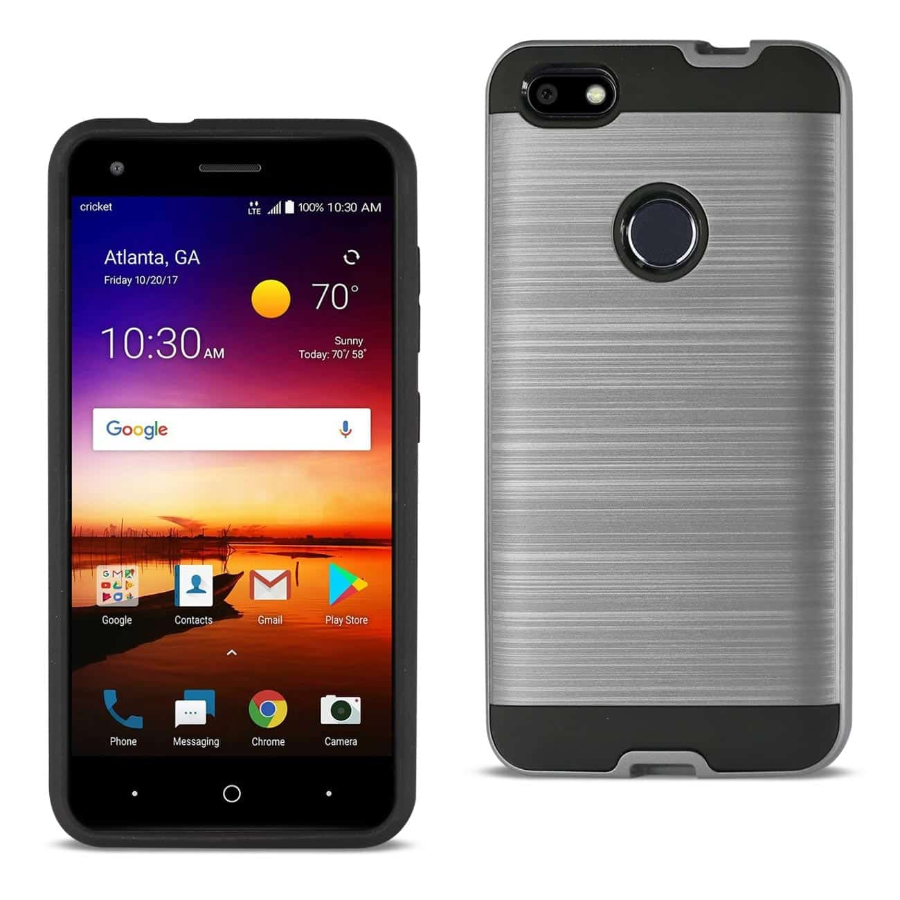 ZTE Blade X / Z965 Hybrid Metal Brushed Texture Case In Gray