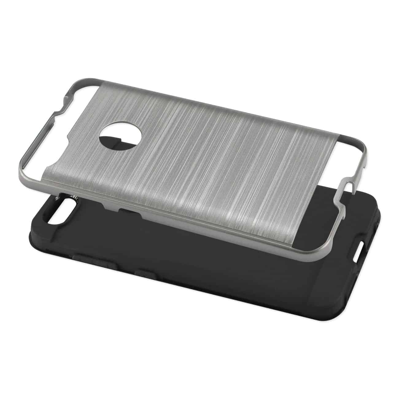 ZTE Blade X / Z965 Hybrid Metal Brushed Texture Case In Gray