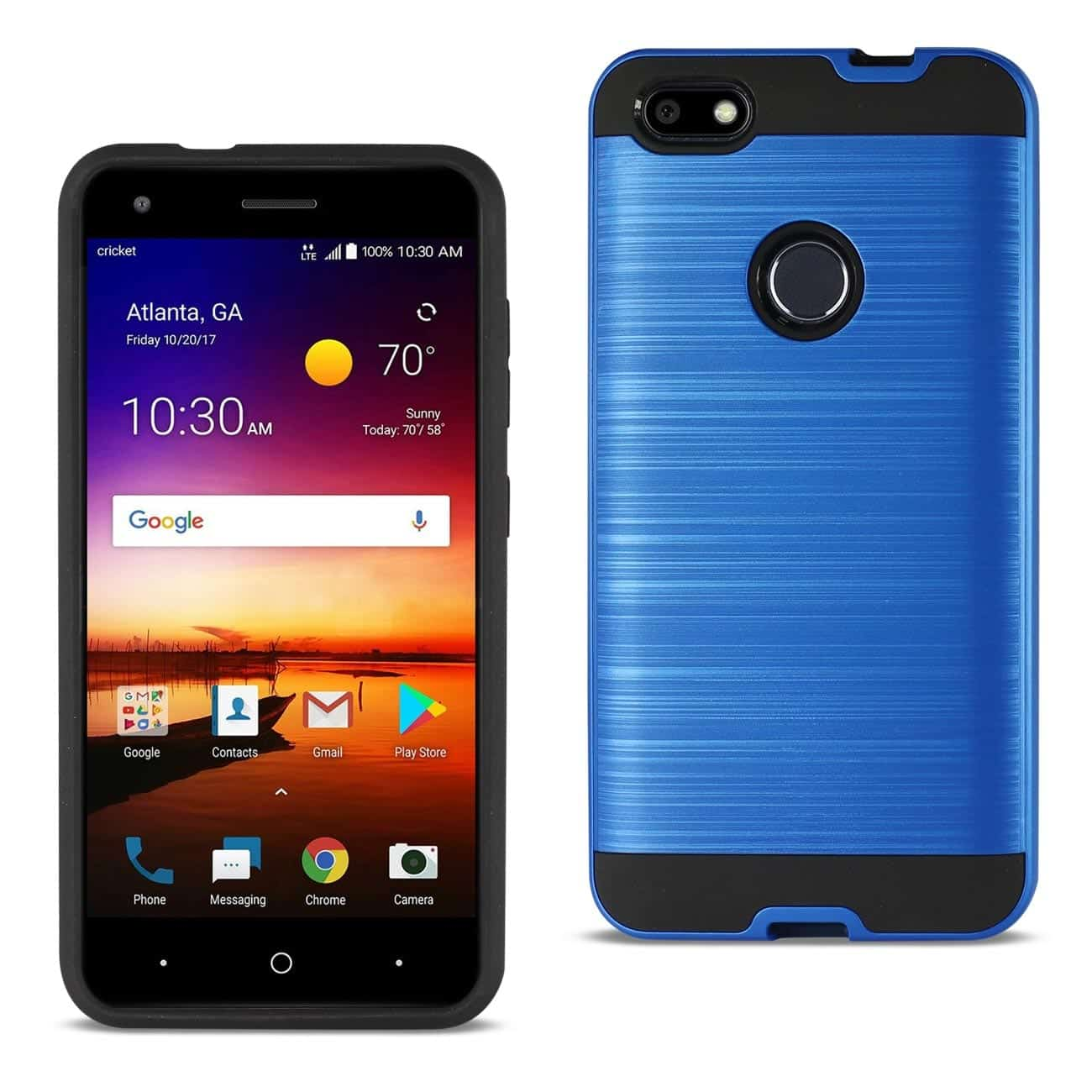 ZTE Blade X / Z965 Hybrid Metal Brushed Texture Case In Navy