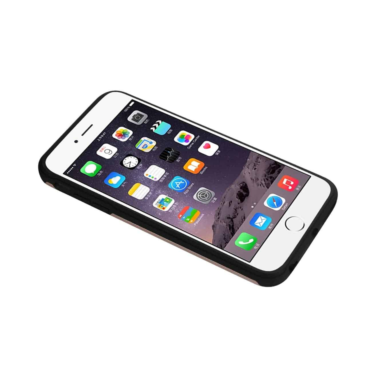 IPHONE 6S PLUS HYBRID SOLID ARMOR BUMPER CASE IN ROSE GOLD
