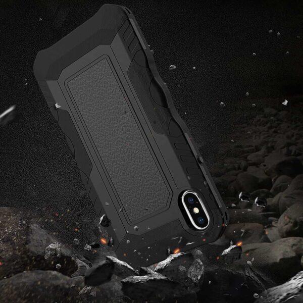 APPLE IPHONE XS MAX Slim Shockproof Protective Anti-Slip Heavy duty Case In Black