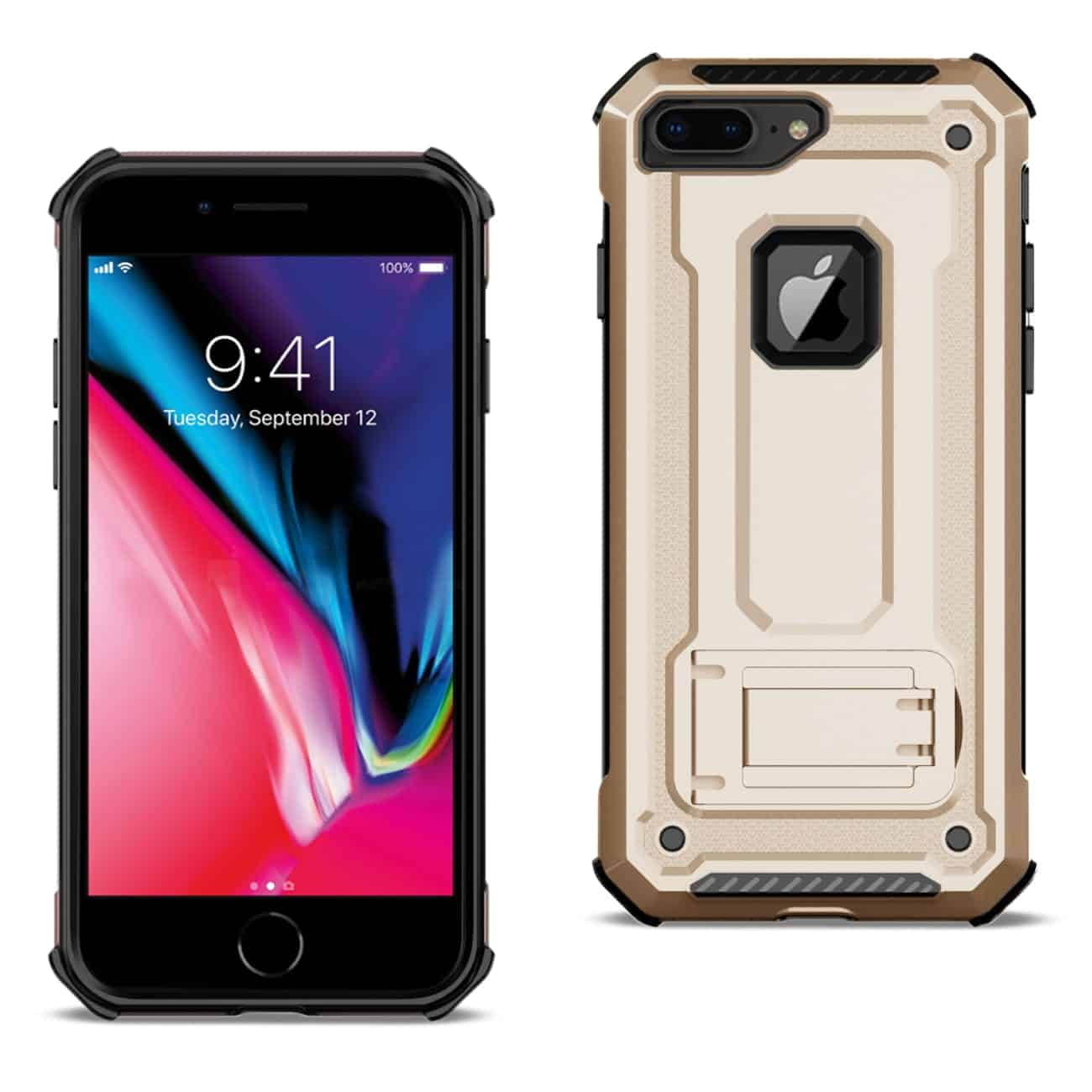 APPLE IPHONE 8 PLUS Case With Kickstand In Gold