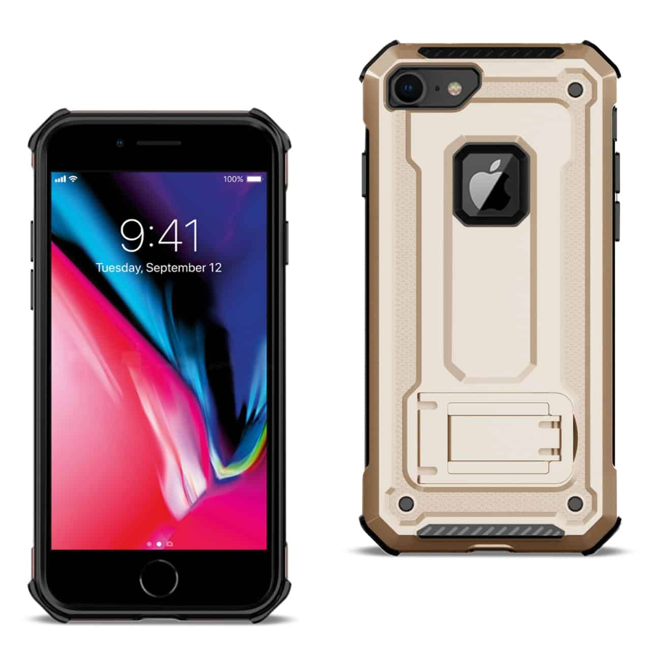 APPLE IPHONE 8 Case With Kickstand In Gold