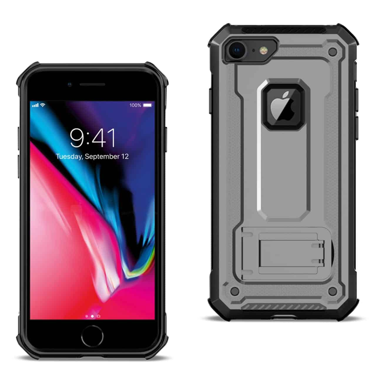 APPLE IPHONE 8 Case With Kickstand In Gray