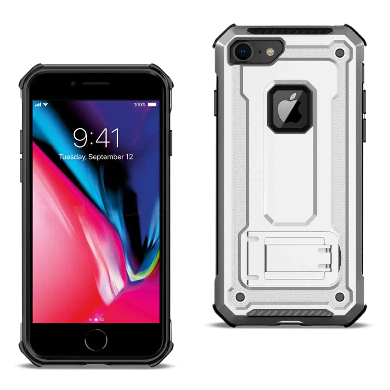 APPLE IPHONE 8 Case With Kickstand In Silver