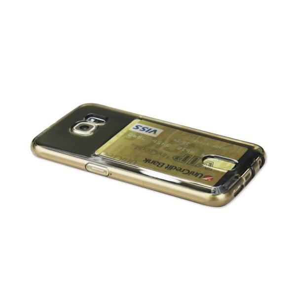 SAMSUNG GALAXY S6 SEMI CLEAR CASE WITH CARD HOLDER IN CLEAR BLACK
