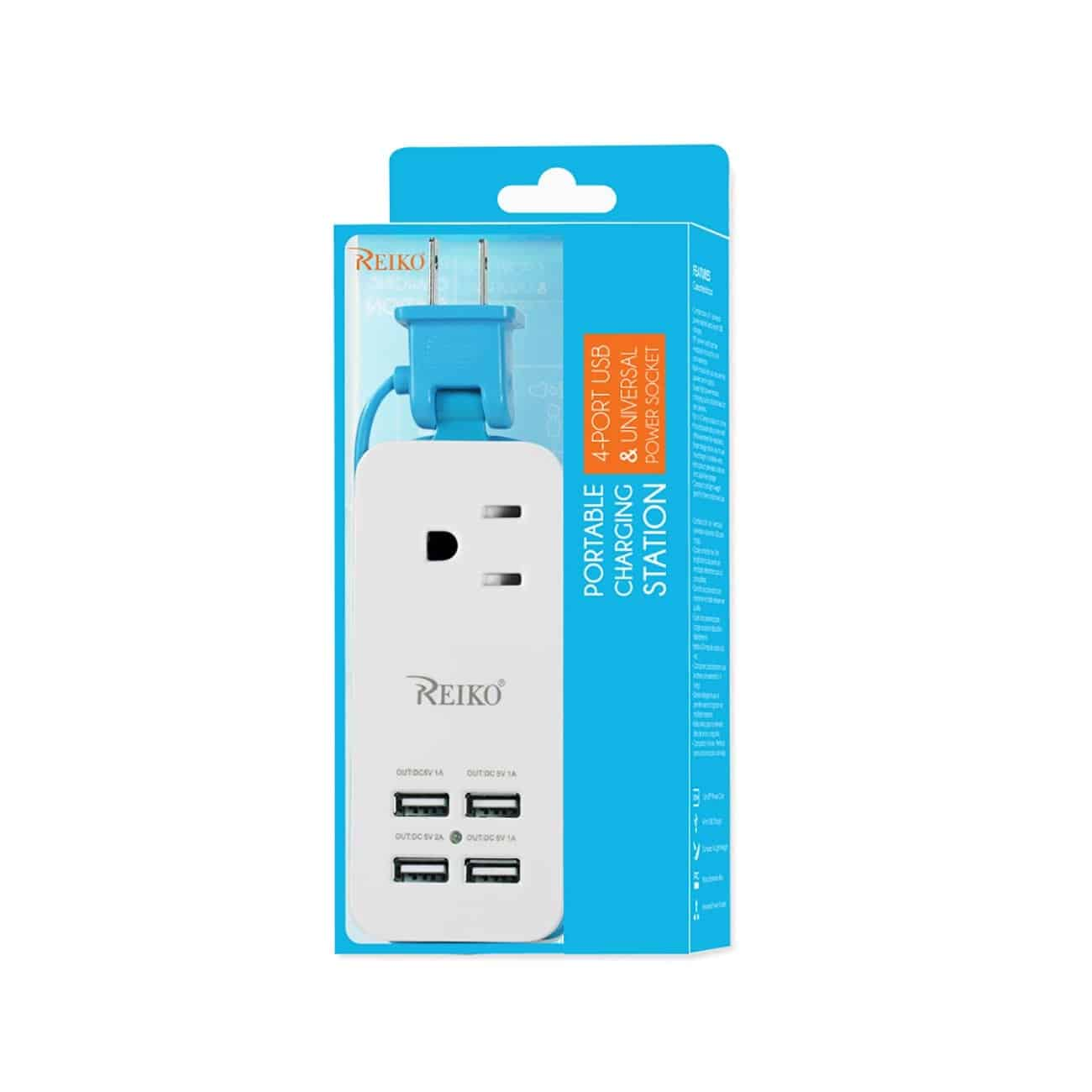 4 AMP HOME TRAVEL CHARGING STATION IN BLUE