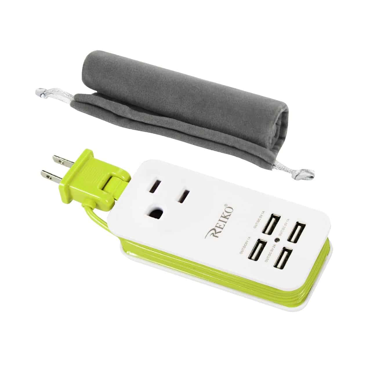 4 AMP HOME TRAVEL CHARGING STATION IN GREEN