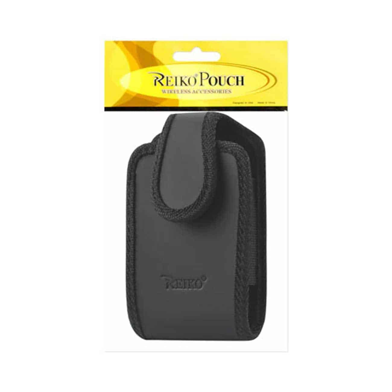 VERTICAL POUCH WITH 360 ROTATING BELT CLIP AND RUGGED EDGES IN BLACK