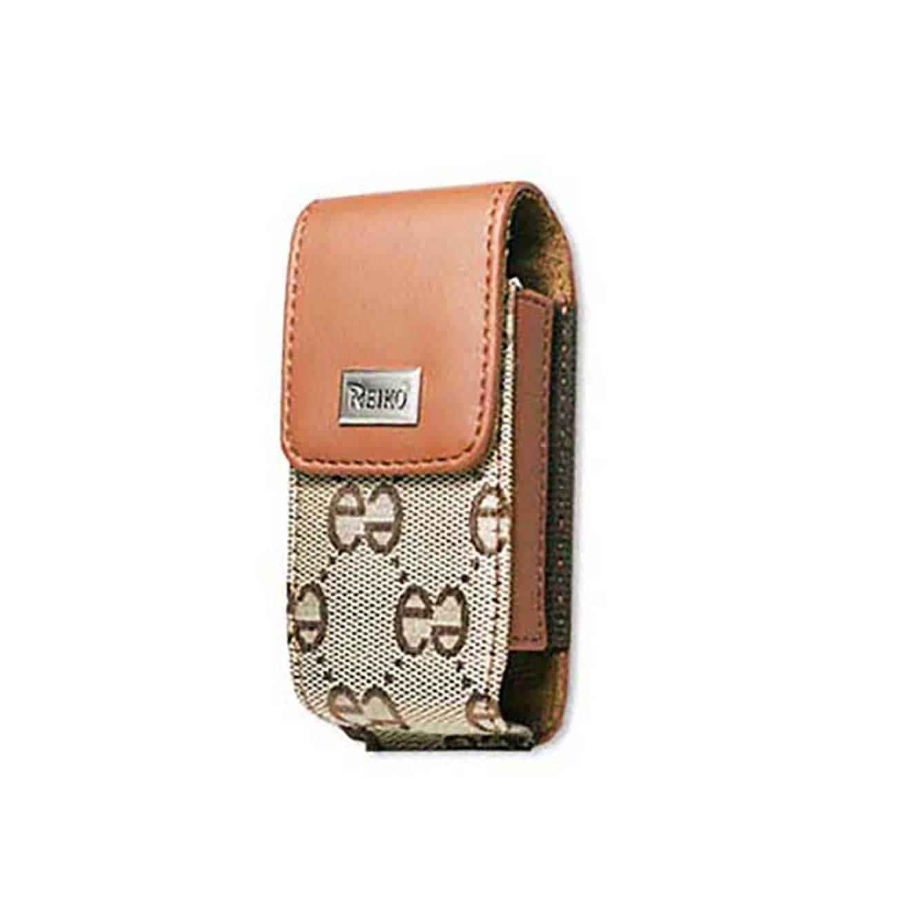 VERTICAL POUCH VP385 BLACKBERRY 8100 / MOTOROLA K1M BROWN 4.5X2.3X0.6 INCHES