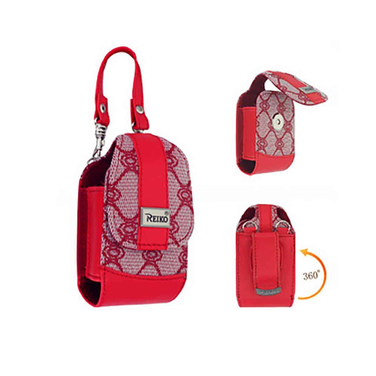 VERTICAL POUCH VP82 S RED 3.5X1.9X0.9 INCHES