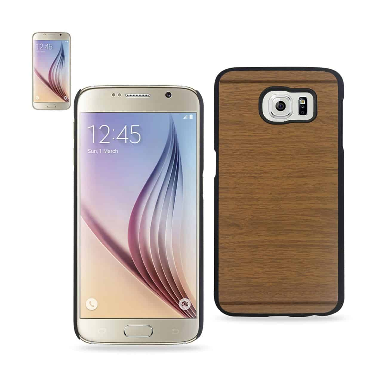 SAMSUNG GALAXY S6 WOOD PATTERN CASE IN BROWN