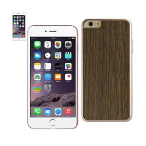 IPHONE 6 PLUS WOOD GRAIN SLIM SNAP ON CASE IN RED GOLD