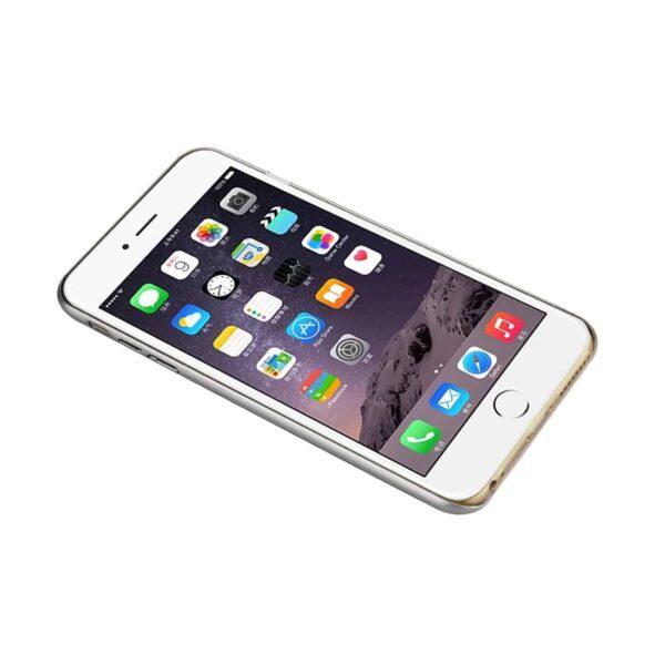 IPHONE 6 PLUS WOOD GRAIN SLIM SNAP ON CASE IN SILVER