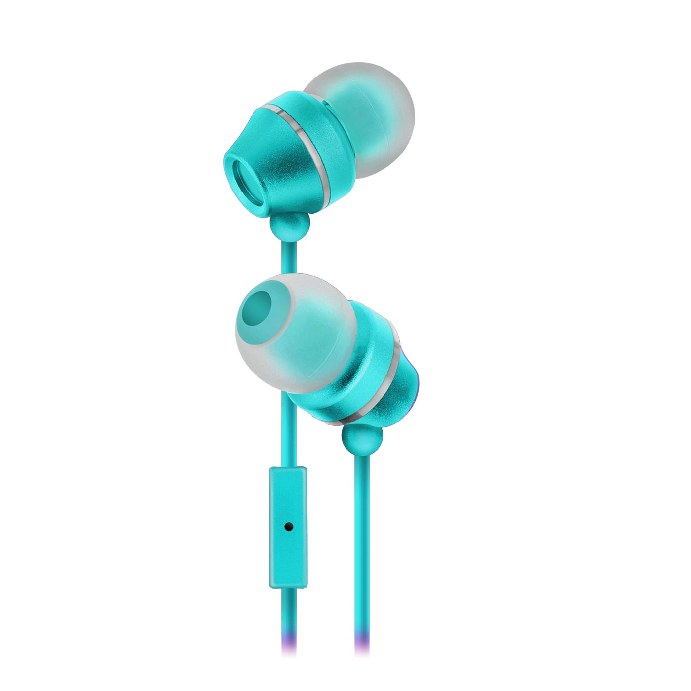 Sentry Industries HM165: Stereo Earbuds with in-line Mic in white package In Green