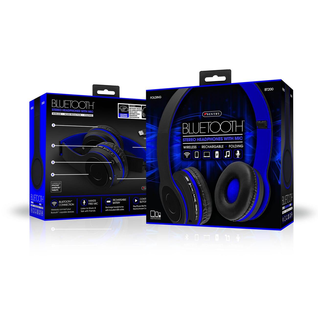Sentry Industries BT200: Wireless Bluetooth Headset In Blue