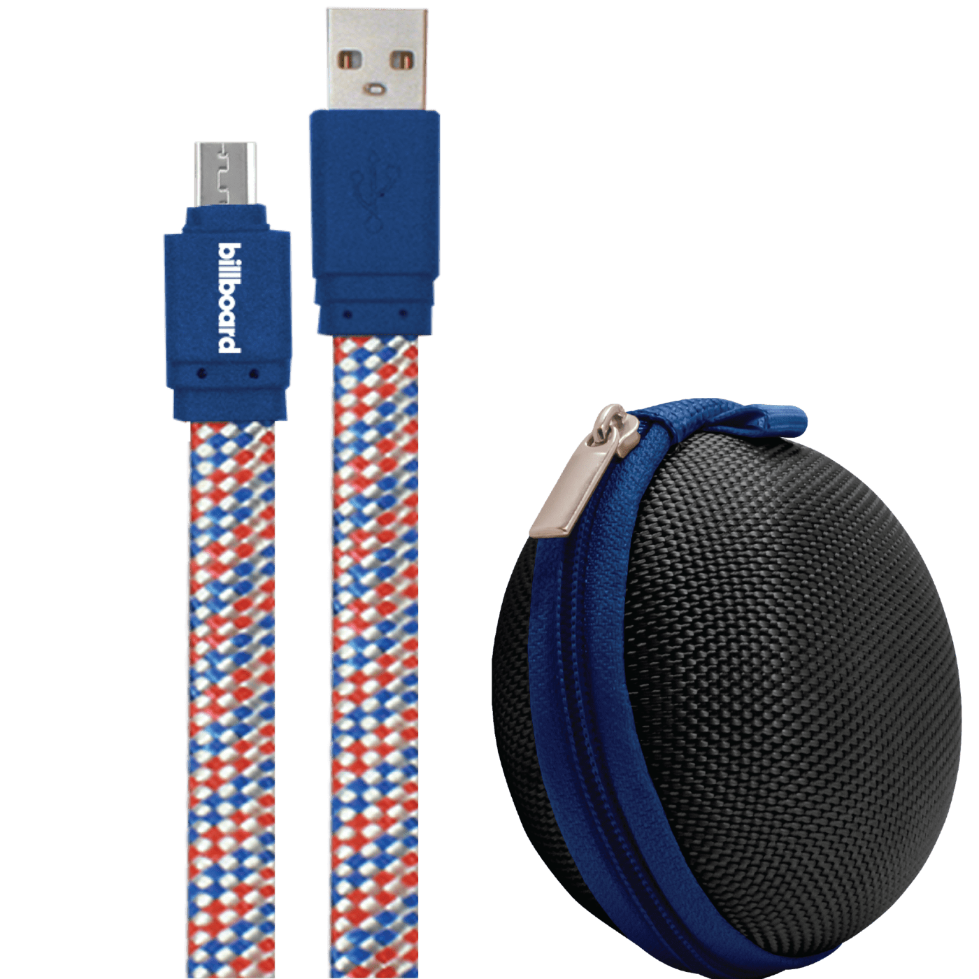 Billboard 6' Micro USB Sync & Charge Cable Blue