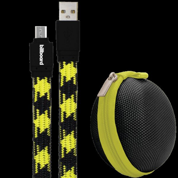 Billboard 6' Micro USB Sync & Charge Cable Yellow