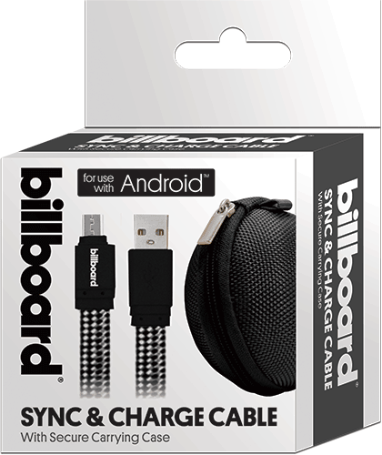 Billboard 6' Micro USB Sync & Charge Cable Black