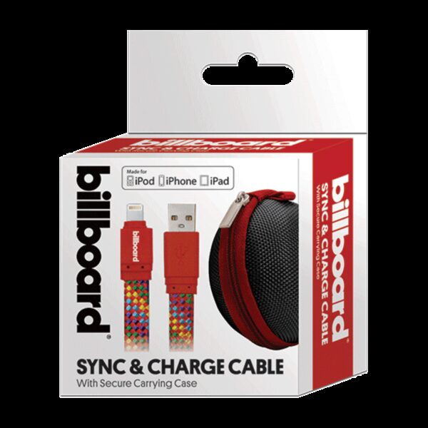 Billboard 6' Micro USB Sync & Charge Cable Red