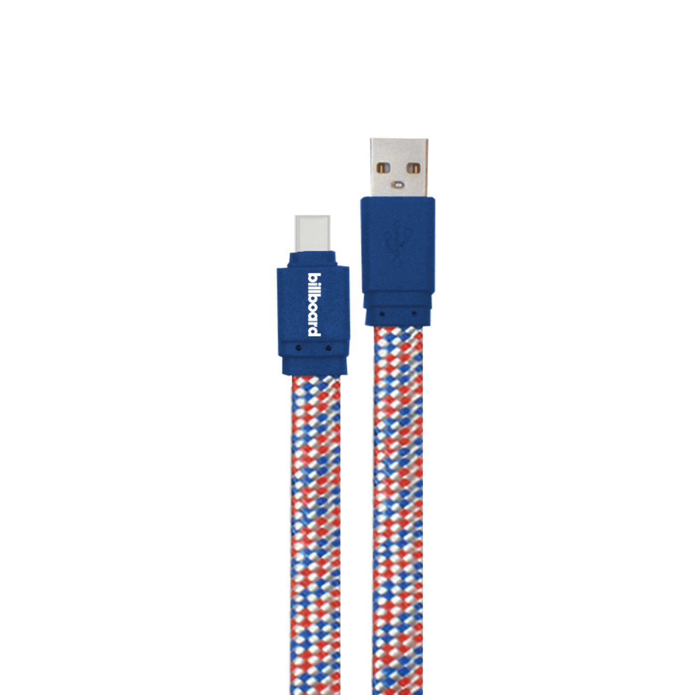 Billboard 6' USB-C to USB-A Sync & Charge Cable Blue