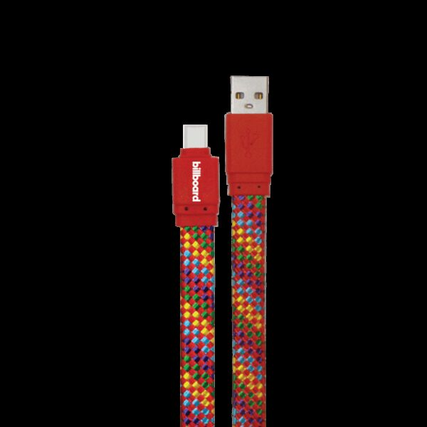 Billboard 6' USB-C to USB-A Sync & Charge Cable Red