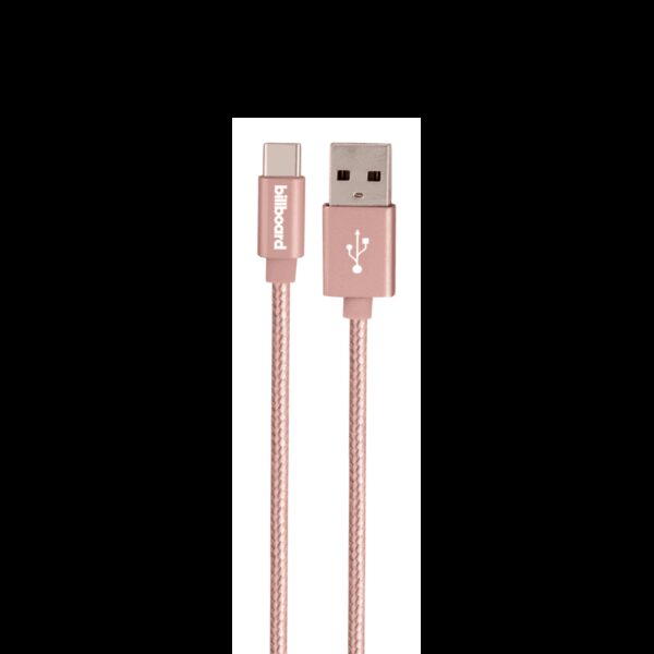 Billboard 10ft TYPE-C USB Cable ROSE GOLD